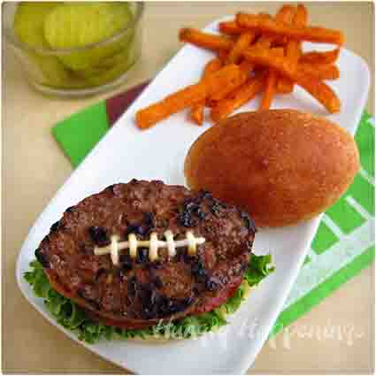 Football Shaped Burgers