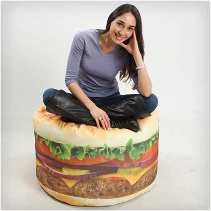 Hamburger-Beanbag