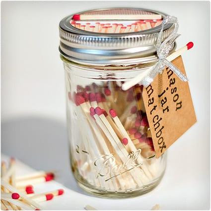 Mason Jar Matchbox