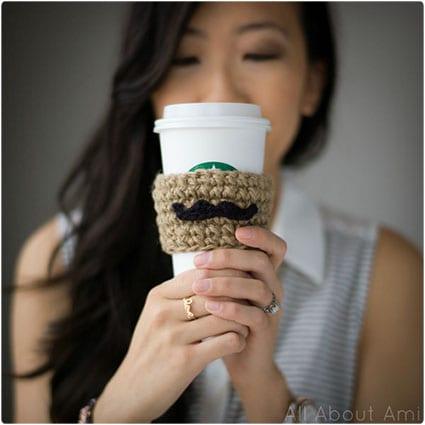 Moustache Coffee Sleeve