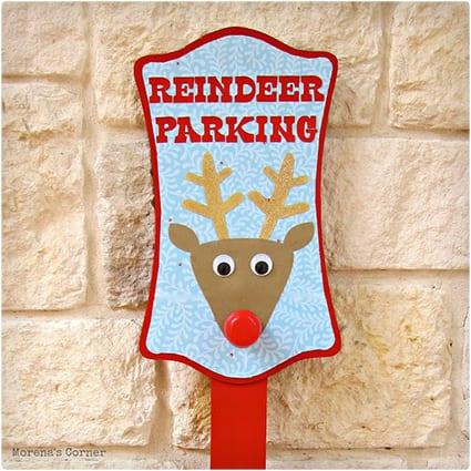 Reindeer Parking Sign