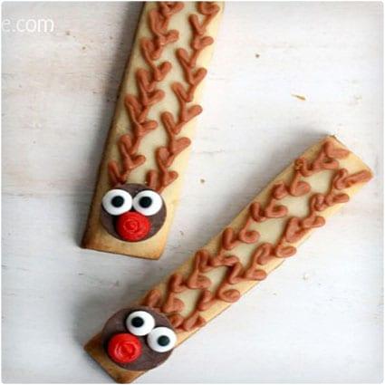 Rudolph Cookie Sticks