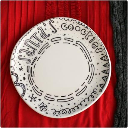 Santa's Cookies Plate
