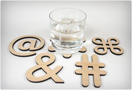 Typographic Coasters