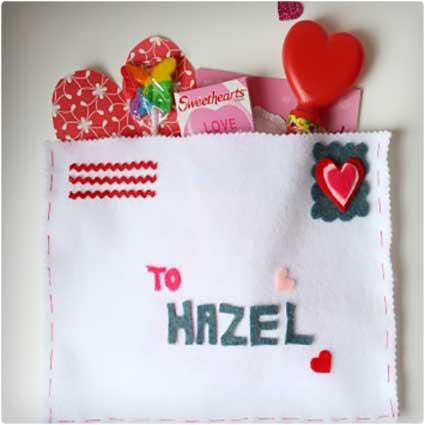 Valentine Felt Envelope