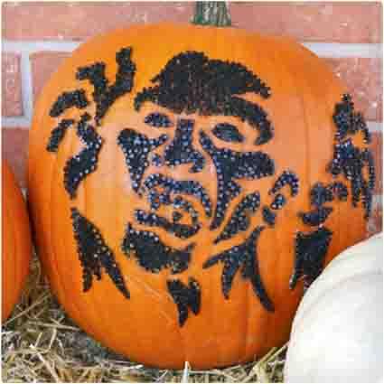 Zombie No-Carve Pumpkin