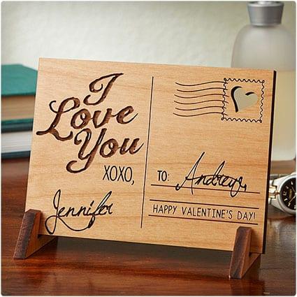 Engraved-Wooden-Postcard