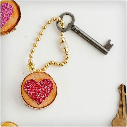 Glitter-Heart-Keychain