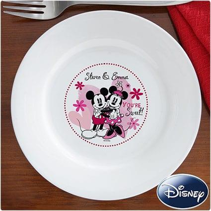 Mickey-and-Minnie-Ceramic-Plate