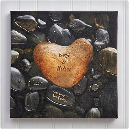 Personalized-Heart-Rock-Print