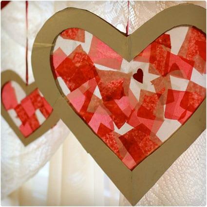 Tissue-Paper-Heart-Suncatcher