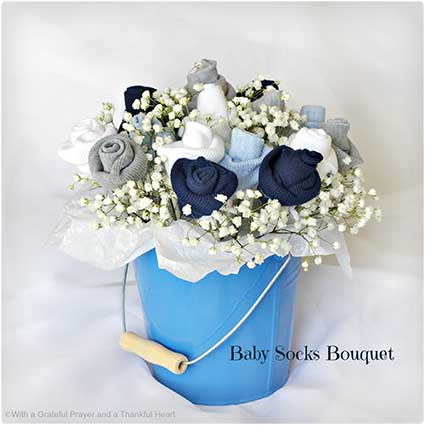 Baby-Socks-Flower-Bouquet