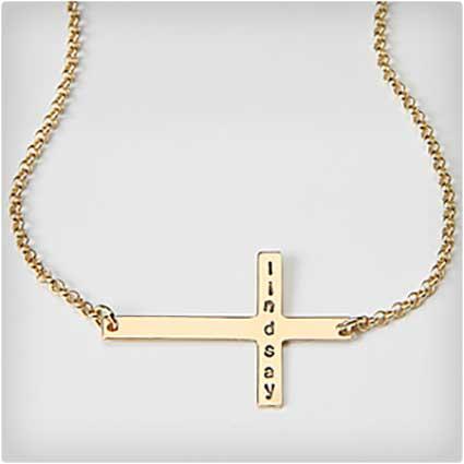 Personalized-Sideways-Cross-Necklace