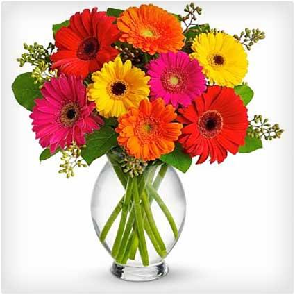 Gerbera-Brights-Bouquet