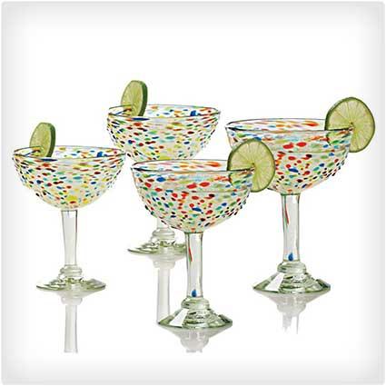 50 wedding gift ideas that are anything but boring dodo burd confetti margarita glasses solutioingenieria Choice Image