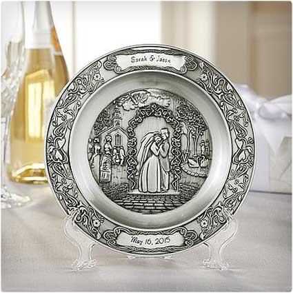 Wedding-Pewter-Plate