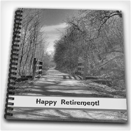 3dRose Trail of Shadows, Retirement Memory Book