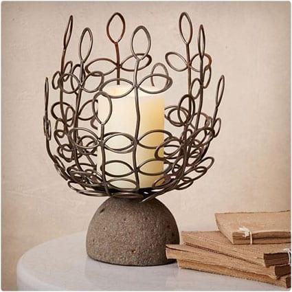 Artisan Pillar Candle Holder - Botanical