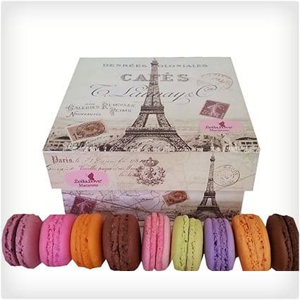 Assorted Macarons in Souvenir Paris Box