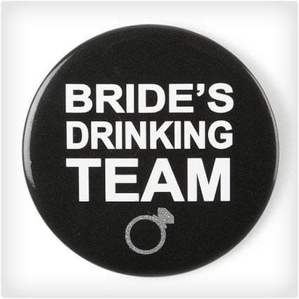 Bride's Drinking Team Button