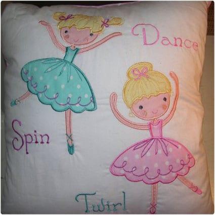 Charles Street Ballerina - Coordinating Ballet Dancers Pillow - Dance, Spin, Twirl