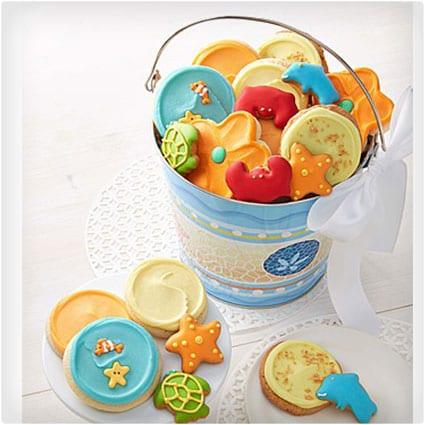 Cookie Beach Stripe Gift Pail