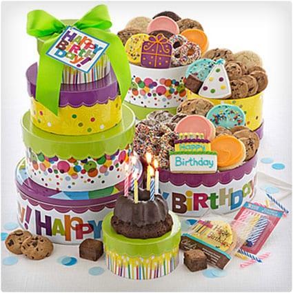 Cookie Birthday Tower