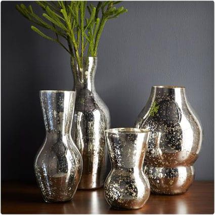 Curved Mercury Vases