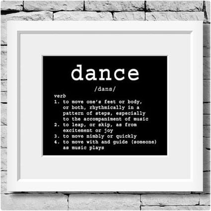 Dance Definition Wall Picture