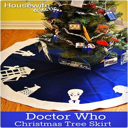 Doctor Who Alien Tree Skirt