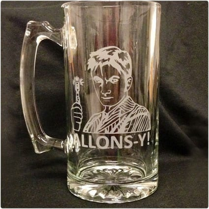 Dr. Who Custom Etched Beer Stein