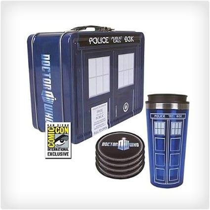 Dr. Who TARDIS Tin Tote Gift Set