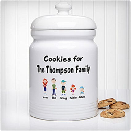 Family Characters Personalized Cookie Jar