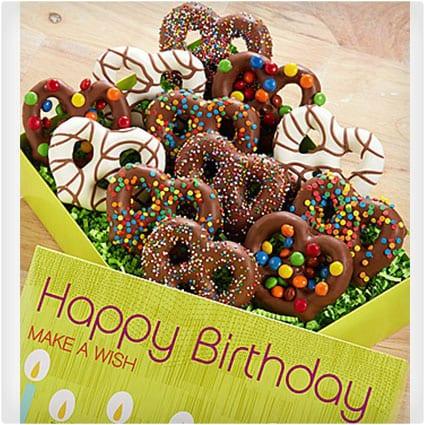 Happy Birthday Decorated Pretzels Box