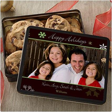 Happy Holidays Personalized Photo Gift Tin