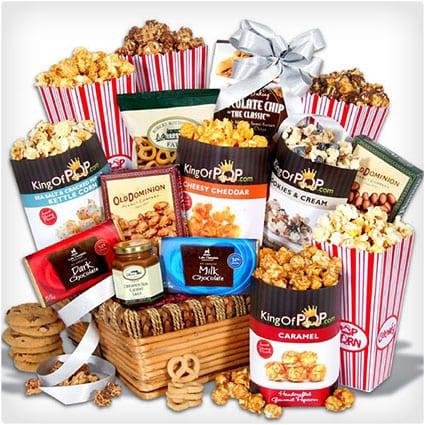 Kids Birthday Popcorn Basket