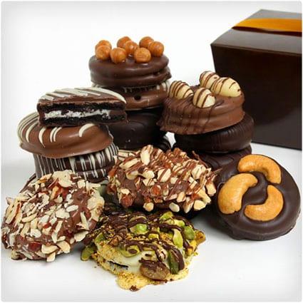Nut Lover's Chocolate Dipped Oreos