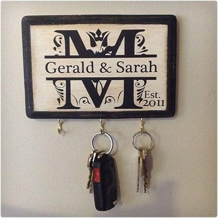 Personalized Monogram Key Holder