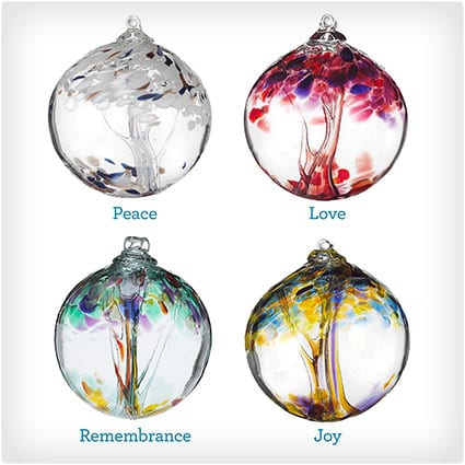 Recycled Glass Tree Globes- Wishes