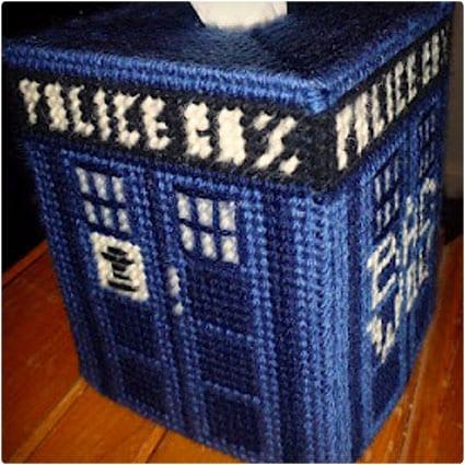 TARDIS Tissue Box Cover