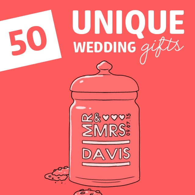 Don't get them a blender! If you are looking for unique wedding gift ideas that are anything but boring, check out this awesome list.