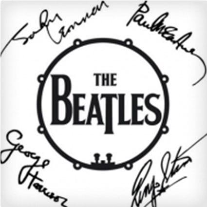 Beatles Signature Drum Fridge Magnet