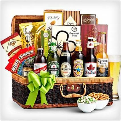 Craft Beer and Snacks Basket