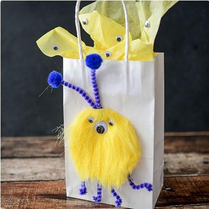 Furry Monster Gift Bag