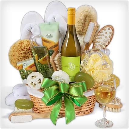 Premium Spa Wine Gift Basket
