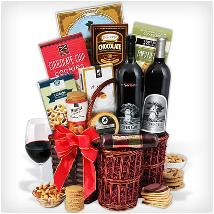 Silver Oak Duo - Red Wine Gift Basket