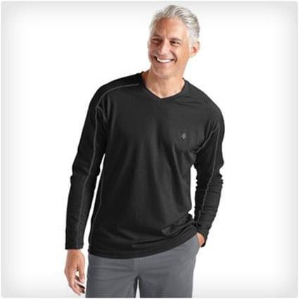 UPF 50+ Men's Long Sleeve Cool Fitness Shirt