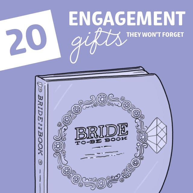 Get them a unique engagement gift with these great ideas. Take a stand against boring gifts!