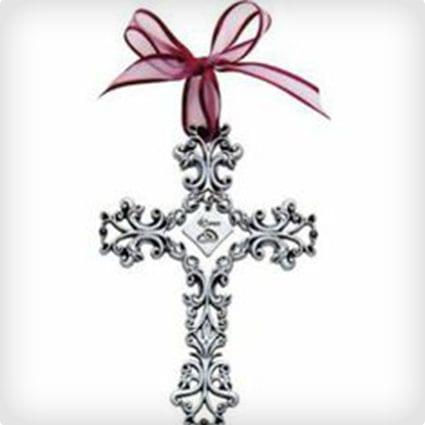 40th Anniversary Cross Ornament