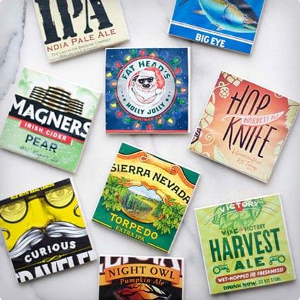 Beer Box Coasters